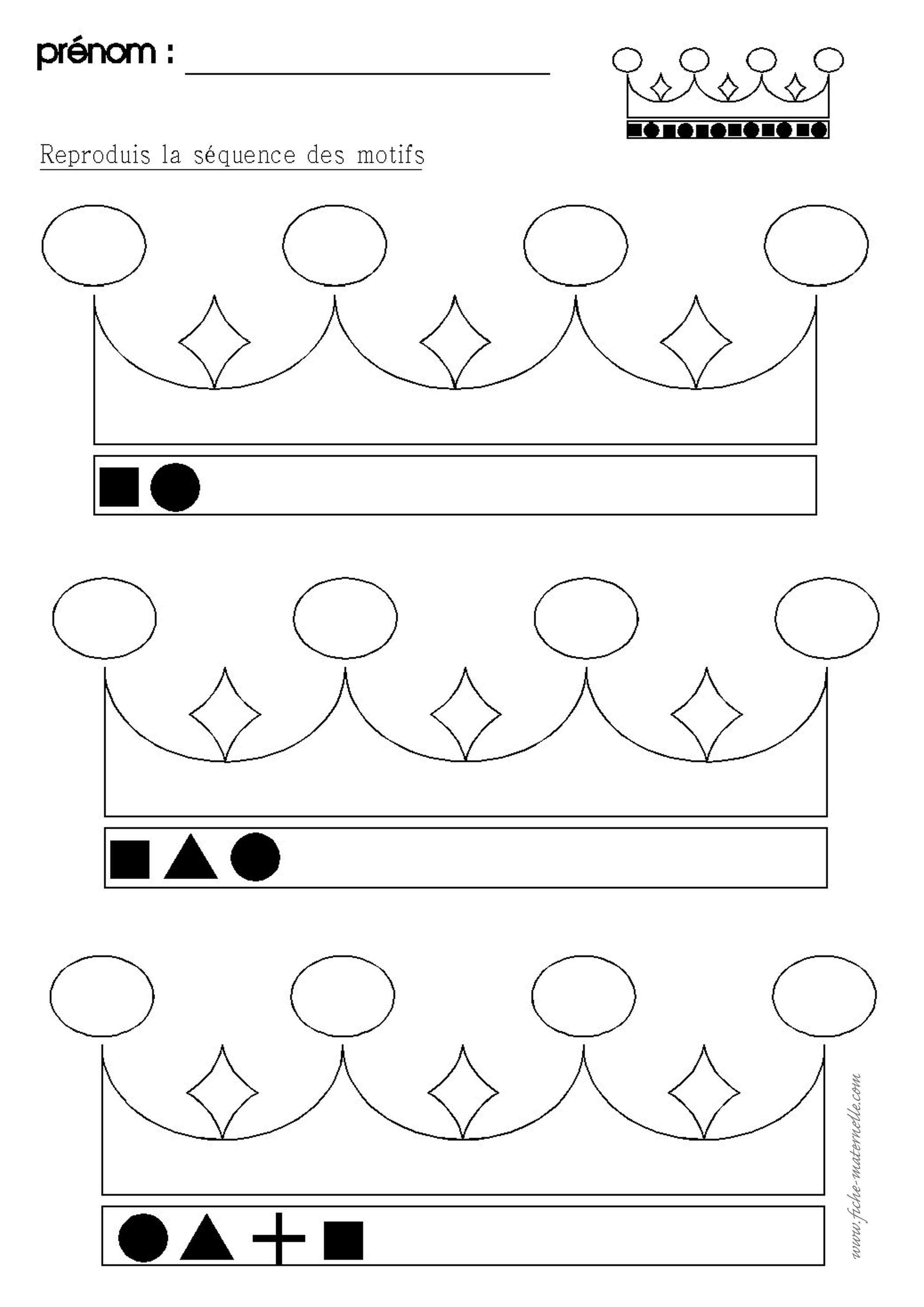 Algorithme En Maternelle Sur Le Theme De L Epiphanie
