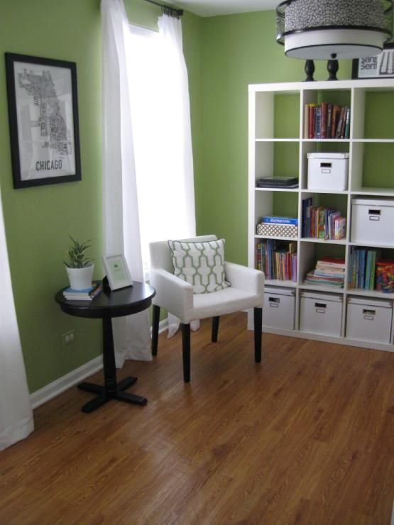 love this apple green color for a future office redo at on best wall colors for offices id=20328