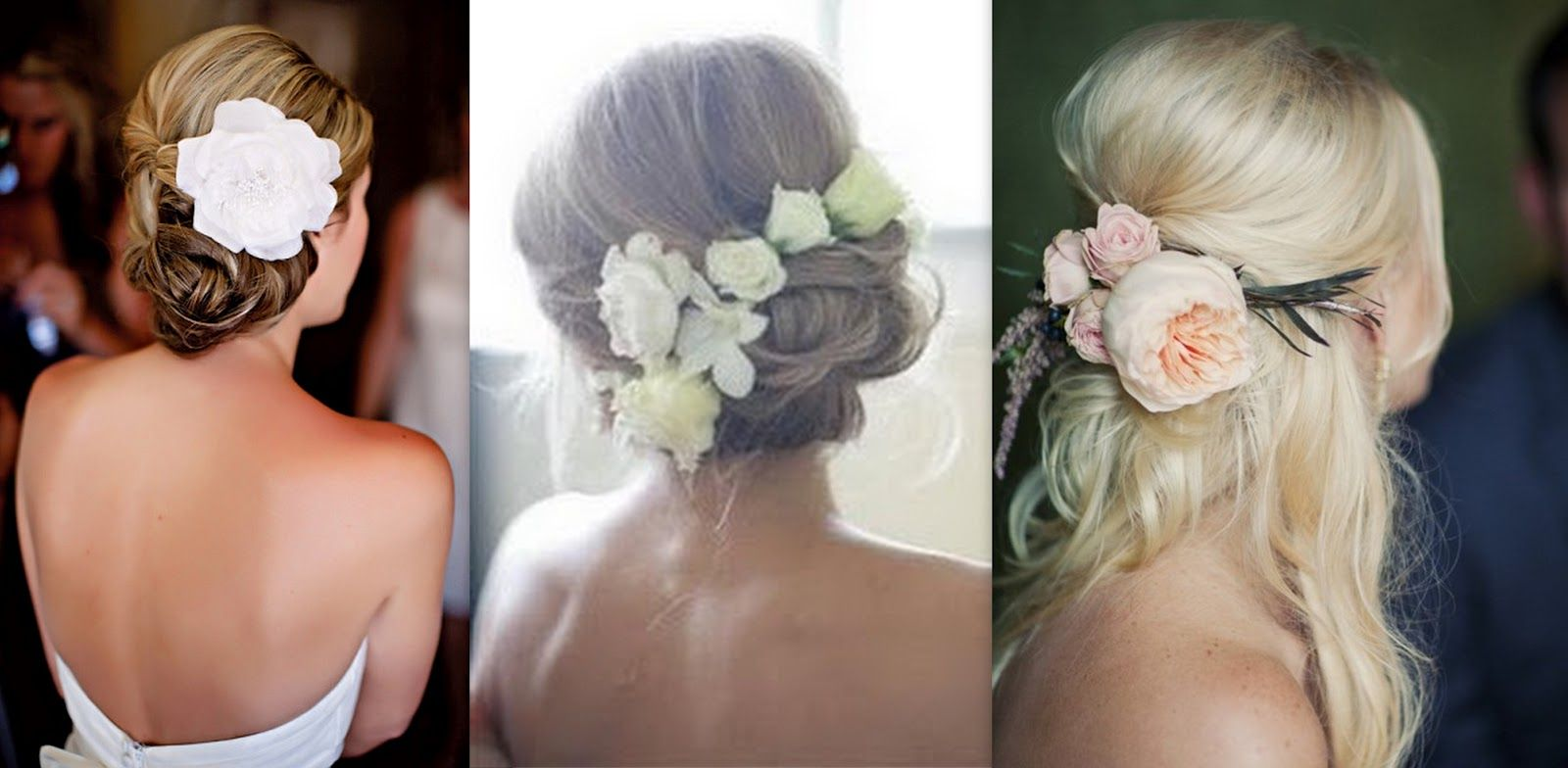 Bridal Hair With Real Flowers