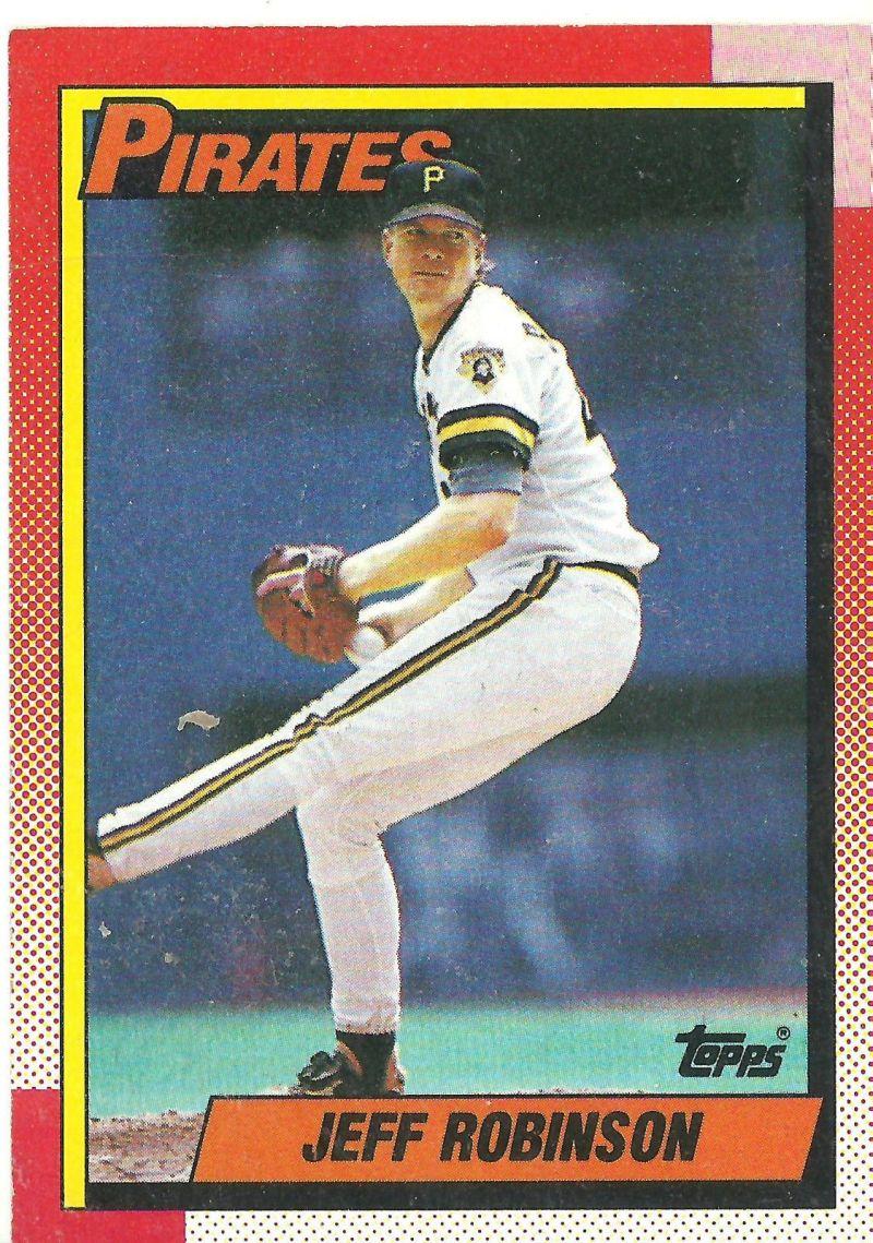 1990 topps jeff robinson card baseball card collectibles