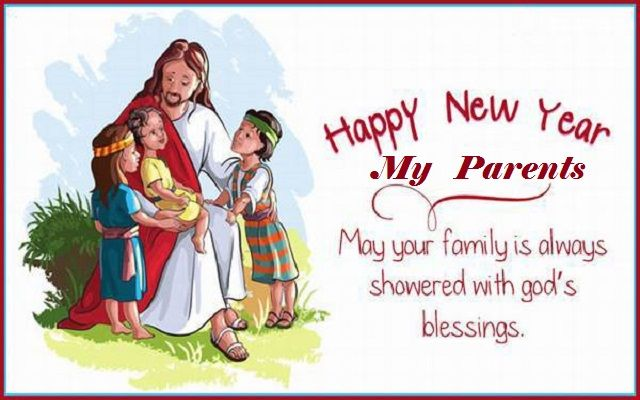 Mom Dad New Year Messages – Merry Christmas And Happy New Year 2018