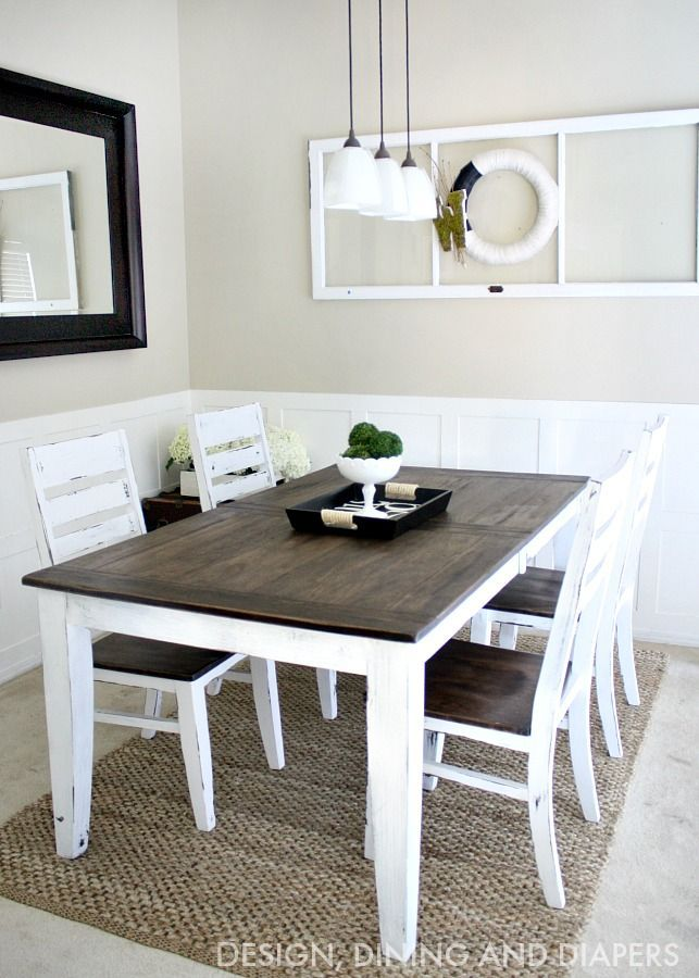 DIY Dining Table And Chairs Makeovers Diy Dining Table