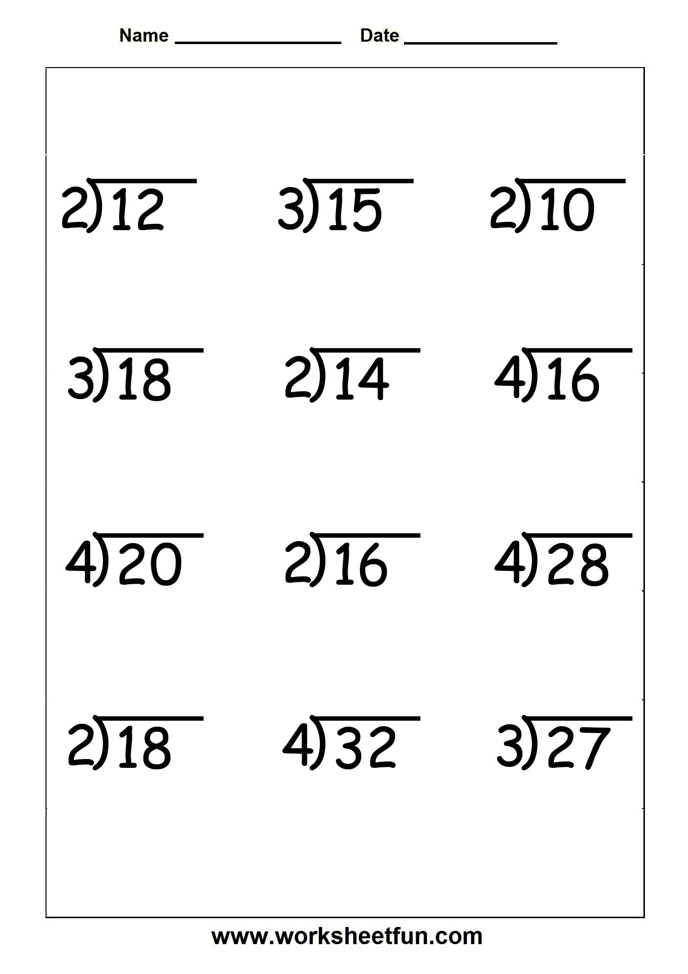 Long Division Worksheet K5 Learning