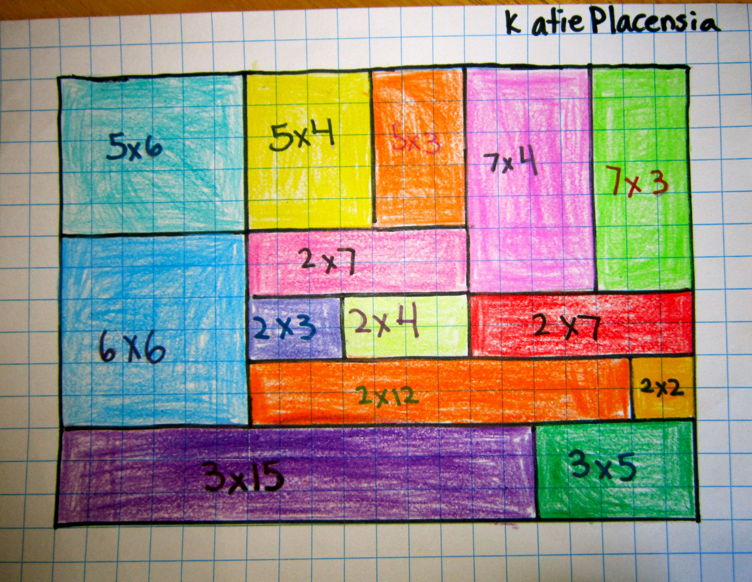 Math Art Grid Lesson Good For Multiplication And Area Lessons