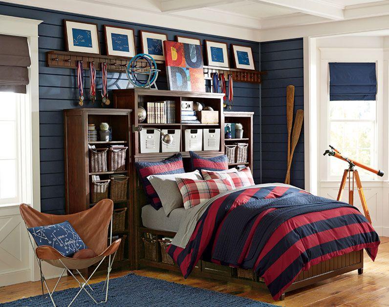 Teenage Guys Bedroom Ideas | Manchester United | PBteen ... on Teenage Room Colors For Guys  id=44479
