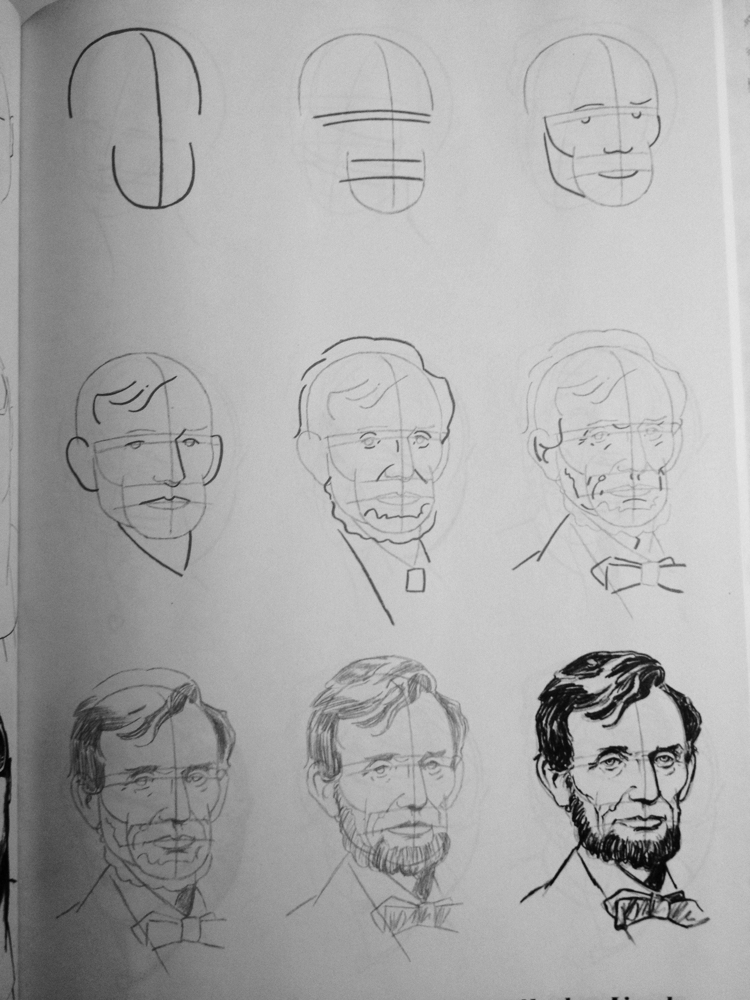 Famous Faces By Lee James Drawing Abraham Lincoln