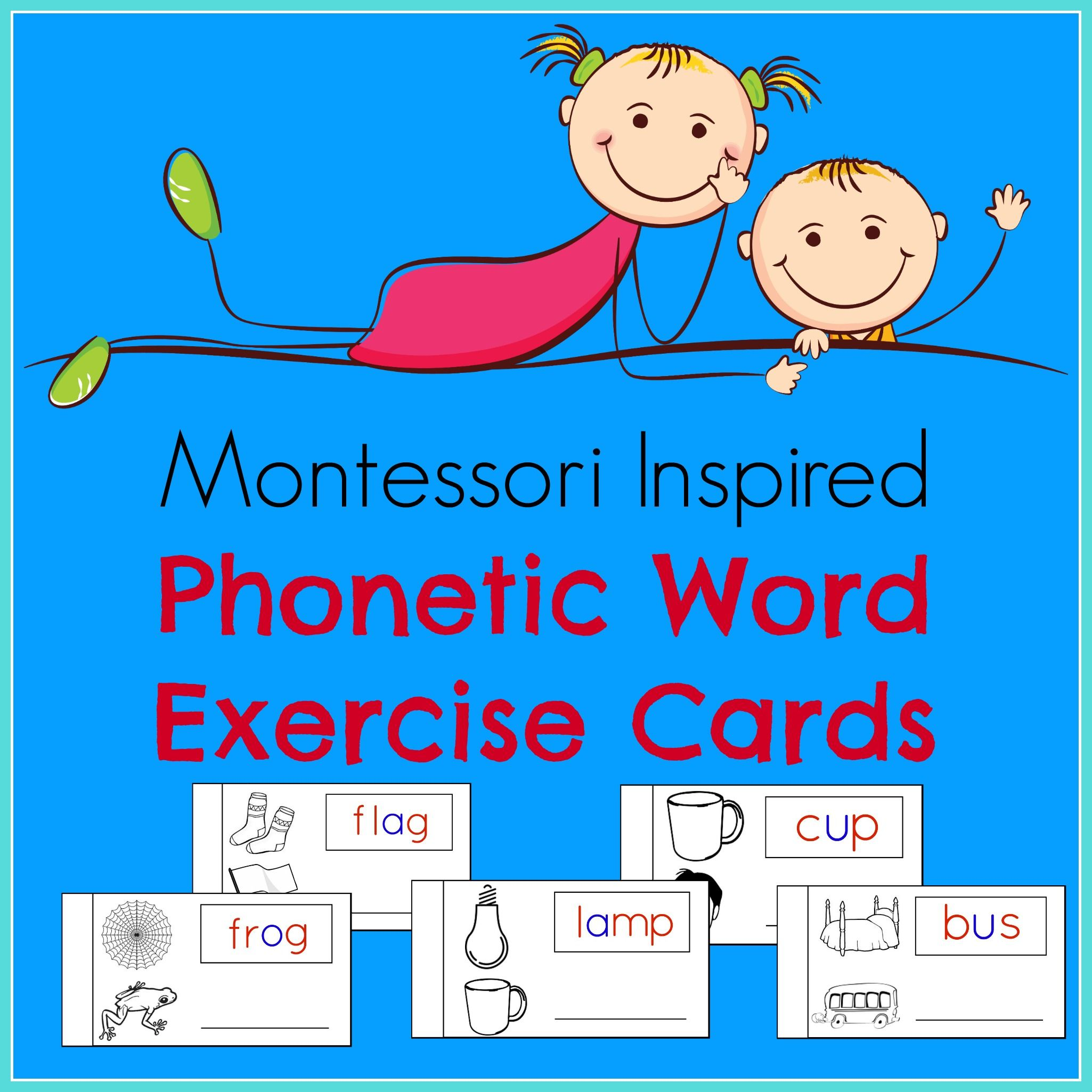 Phonetic Word Exercise Cards Contain 54 Phonetic Word