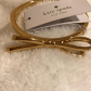 Nwt kate spade gold bangle bow tie bracelet gold bangles kate