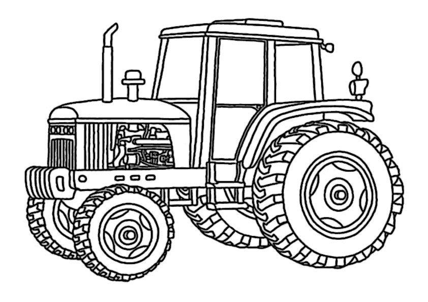 Traktor Ausmalbilder 07 Dorf Pinterest Traktoren