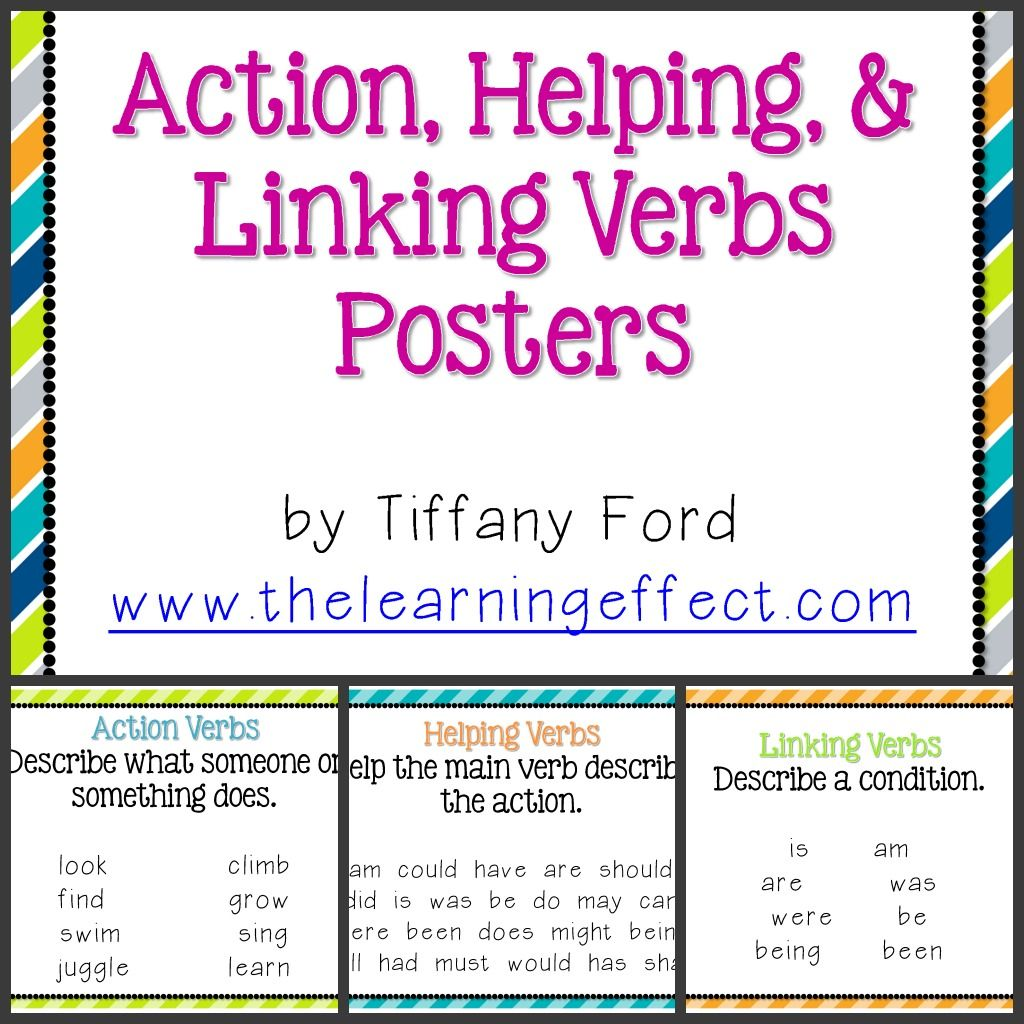Examples Of Linking Verbs For 4th Graders