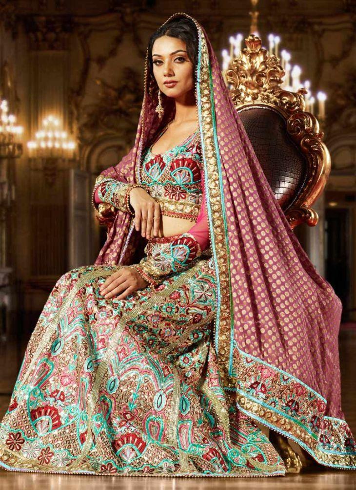 elegant traditional indian wedding dress  bride  Pinterest