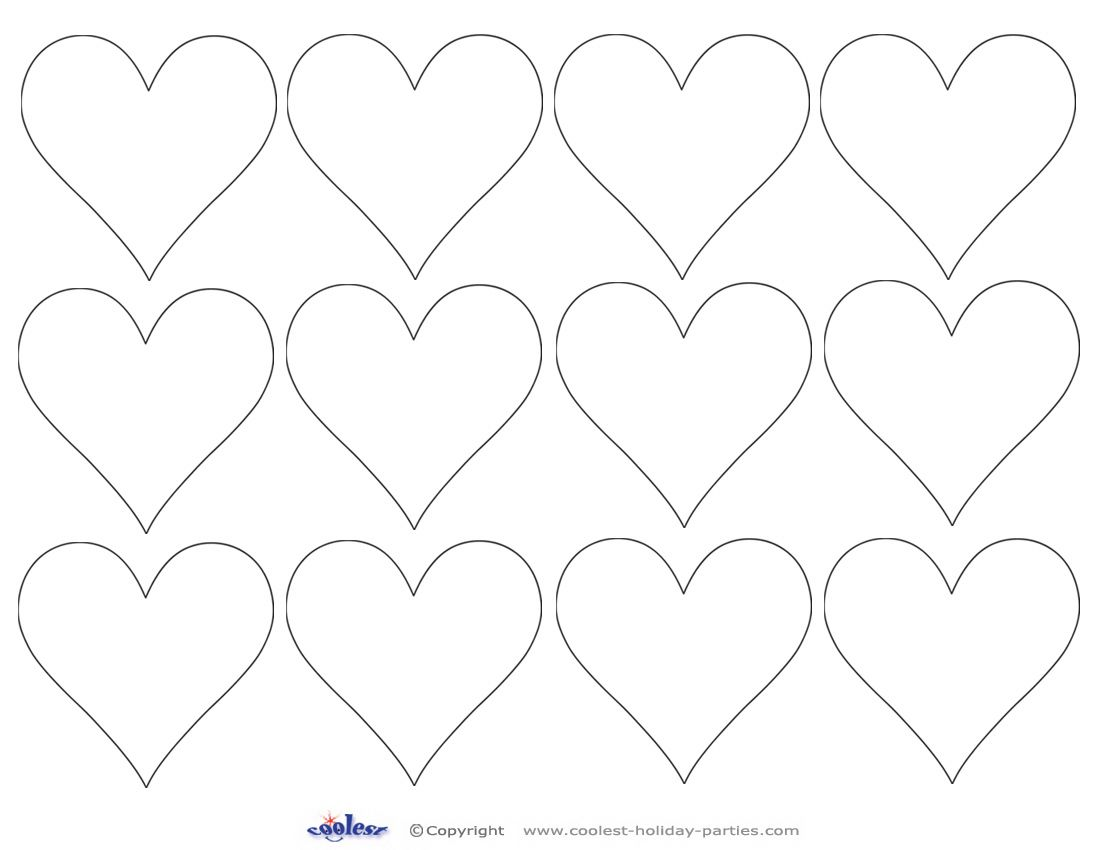 Printable Heart Cut Out 6 Coolest Free Printables