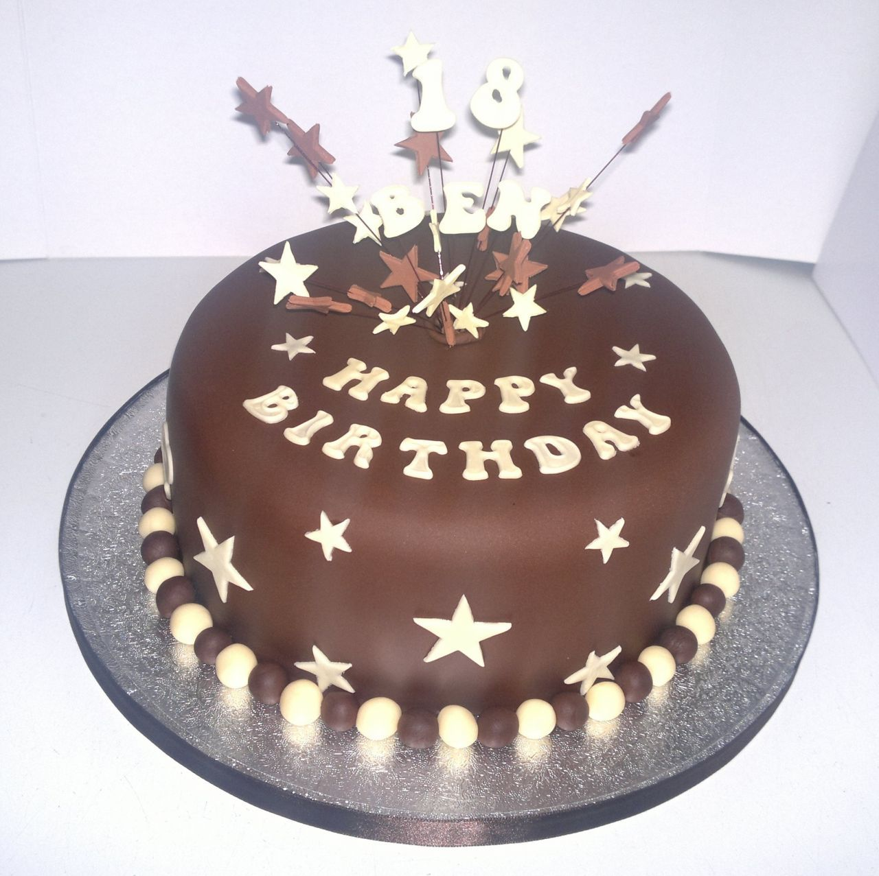 Men Birthday Cake Ideas With Star And Number Cake Topper
