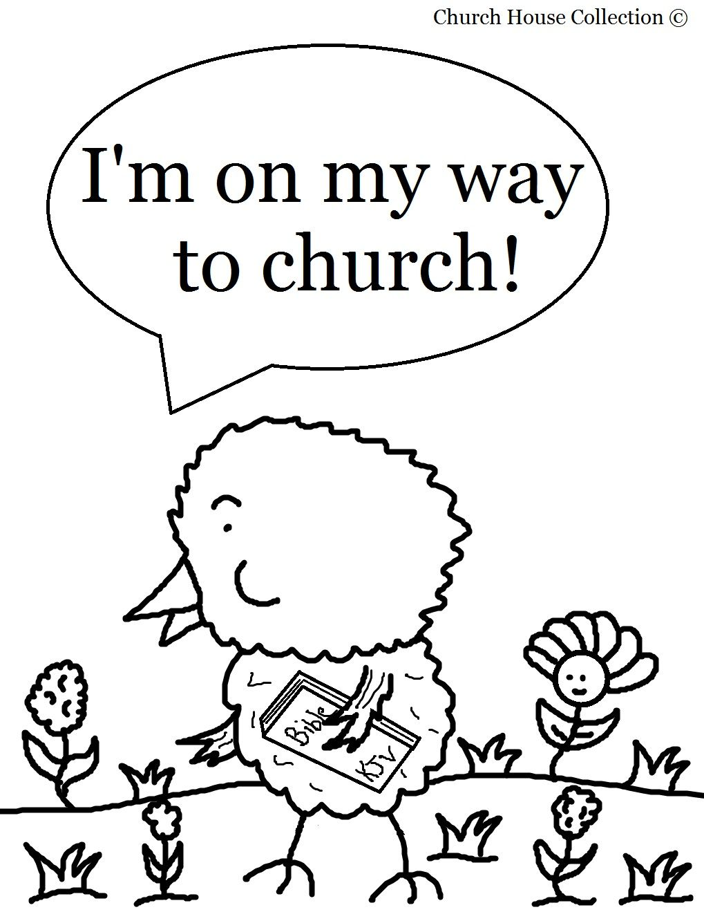 Easter Chick Coloring Page For Sunday School Kids Chick On His