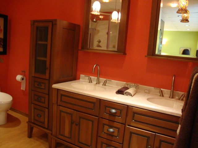 Red Bathroom Sink Dream Home Pinterest