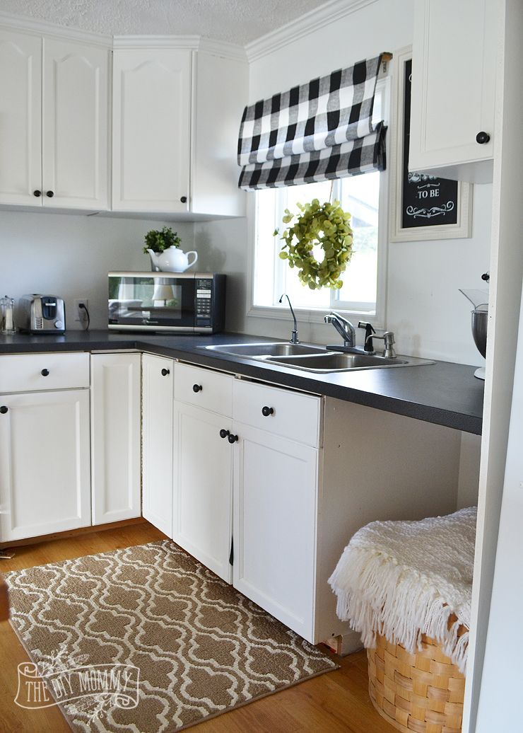 a budget friendly black and white country cottage farmhouse kitchen house ideas pinterest on farmhouse kitchen black and white id=41465