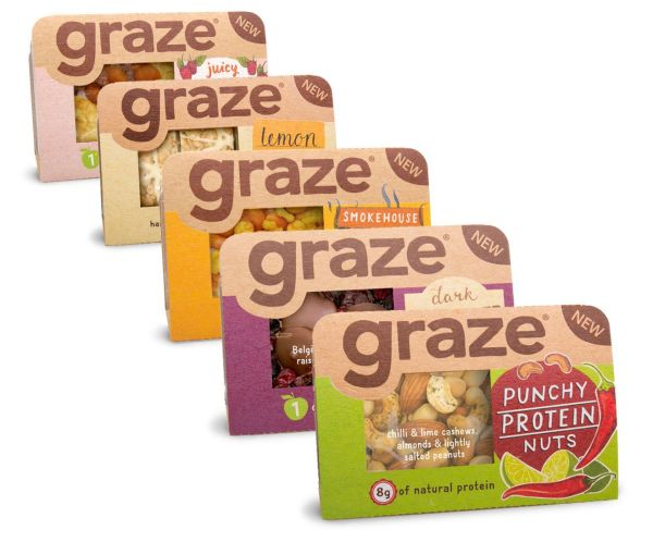 Photo: Graze snack for the retail channel   Packaging ...
