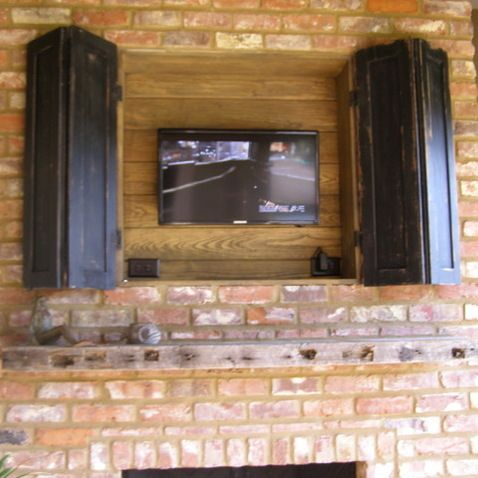 outdoor fireplace tv design ideas pictures remodel and decor page 3 outdoors pinterest on outdoor kitchen tv id=94212