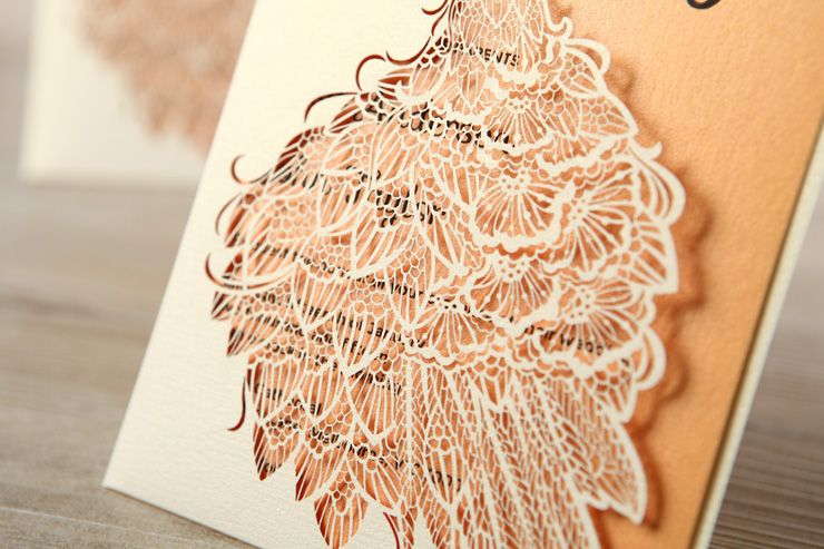 Laser cut wedding invitation for a civil wedding | sodazzling.com