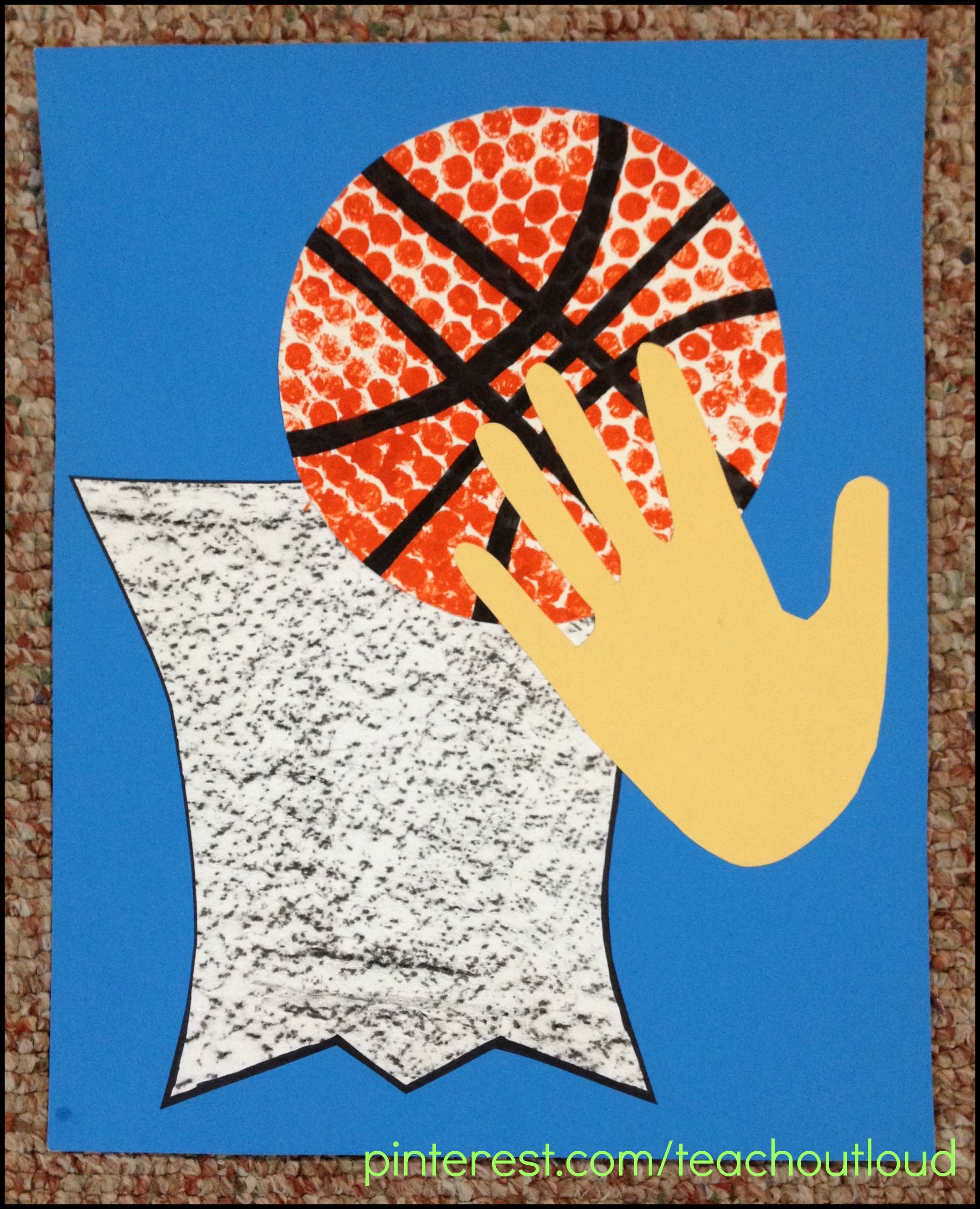 Basketball Craft More Sports Preschool Crafts Basketball