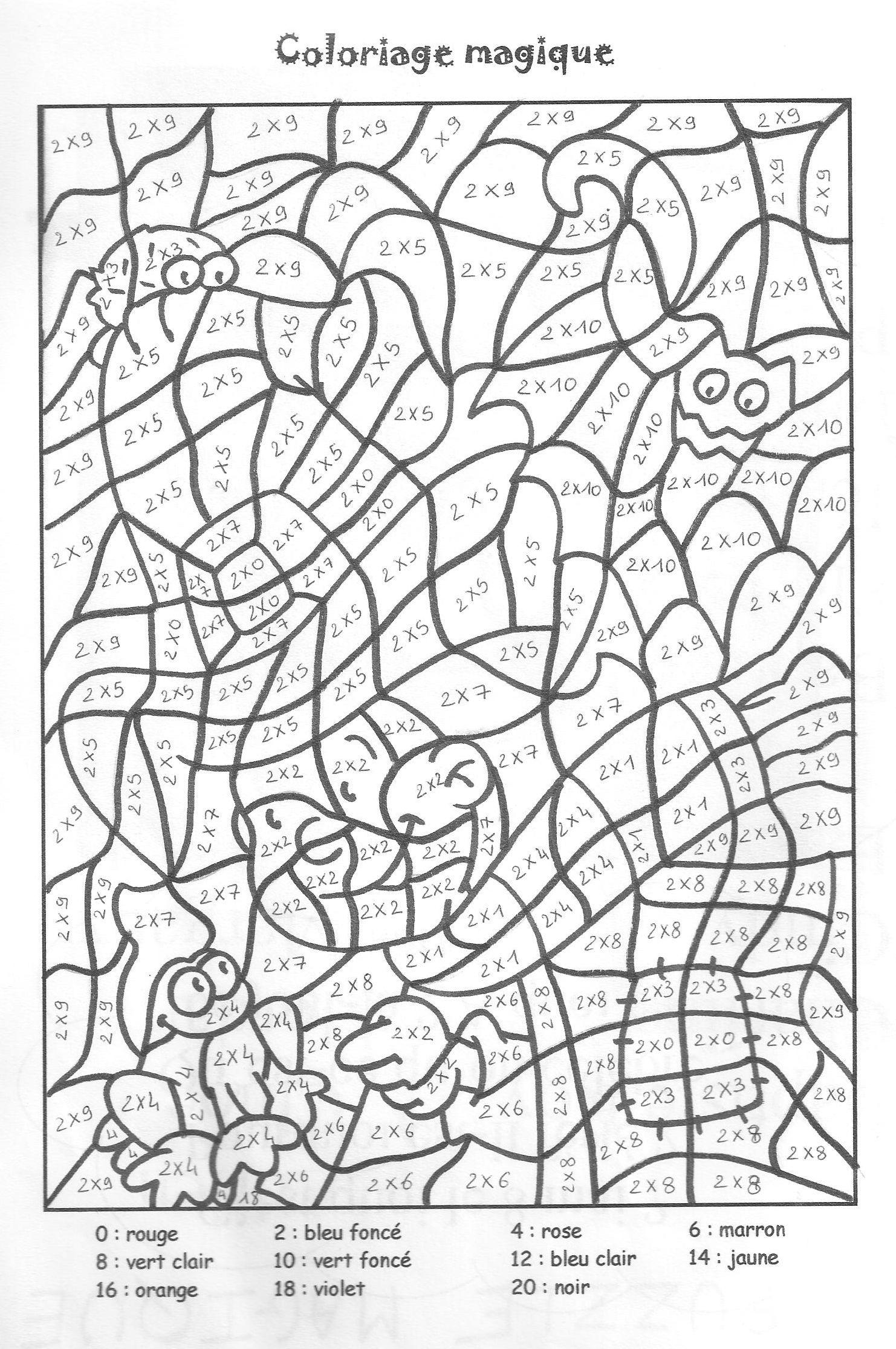 Coloriage Magique Table De Multiplication 2 3 4 5