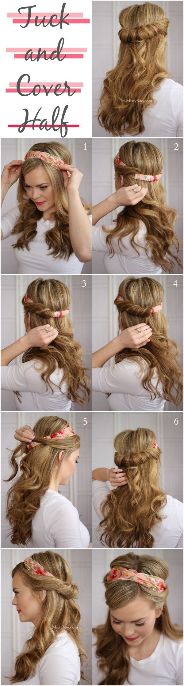 Hairstyles for Work Easy hairstyles Medium hair and Tutorials