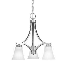 Portfolio 34395 3 Light Colony West Brushed Nickel Chandelier At Lowe S Canada Find Our Selection Of Chandeliers The Lowest Price Guaranteed With