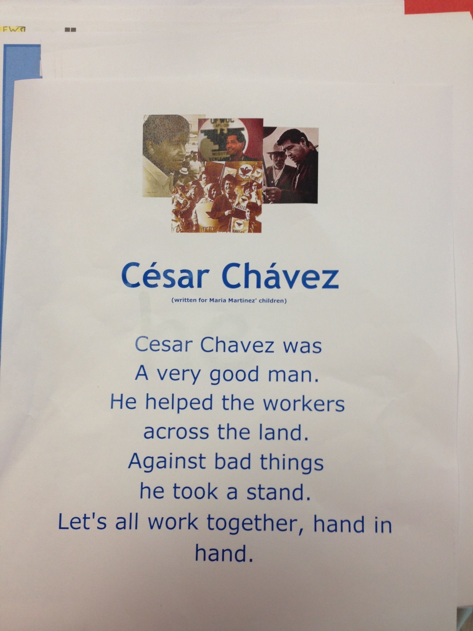 Cesar Chavez Poems