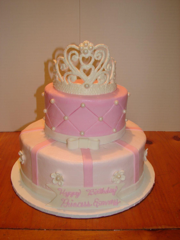 Pink Princess Cake Emmy S First Birthday