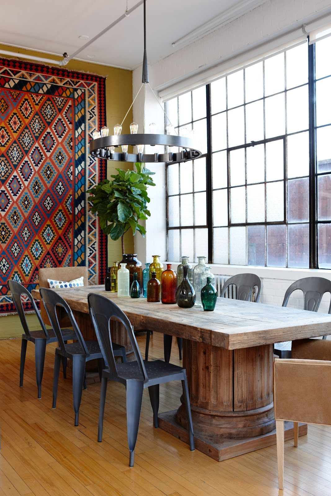 dining room efficient and rustic boho look my style for the home pinterest room urban on boho chic kitchen table decor id=74751