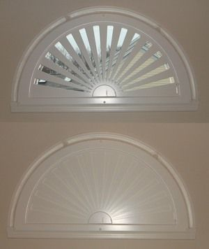 Moveable Arched Window Treatments For Half Amp Quarter Circle Windows Shutters Pinterest