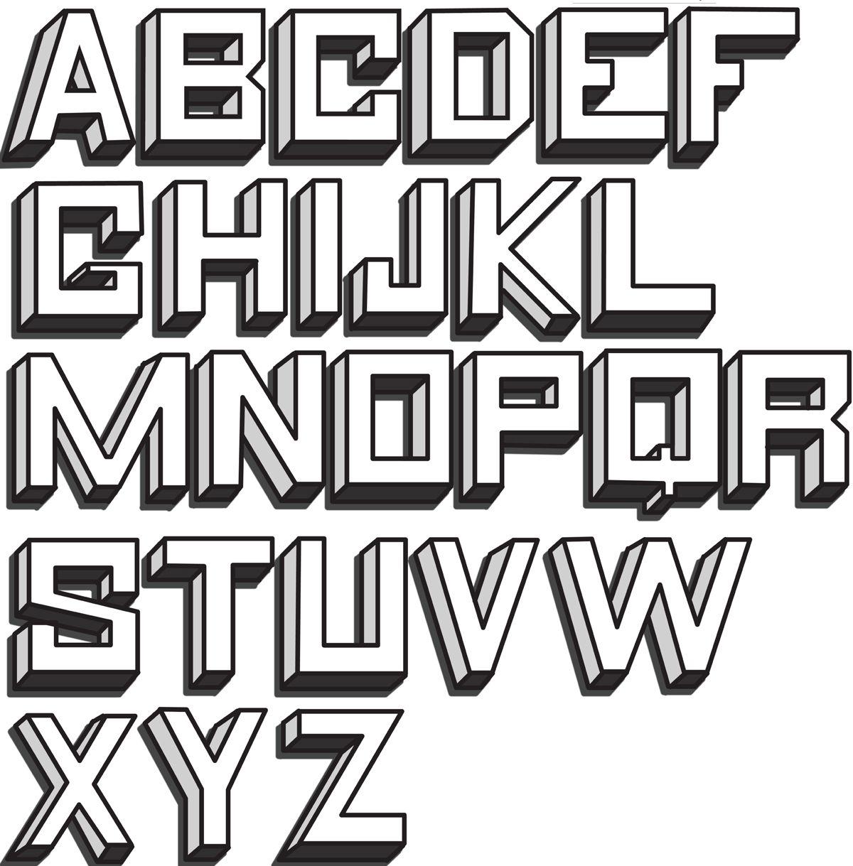 3d Block Letters 3d Block Letter Alphabet Image Galleries