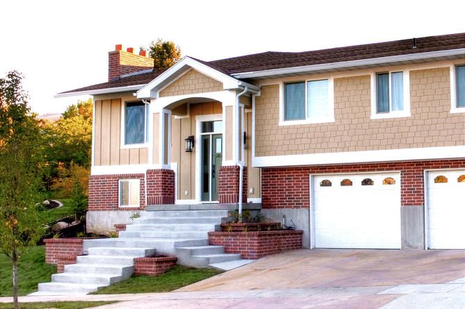The Exterior Of This Split Level Home Was Updated By