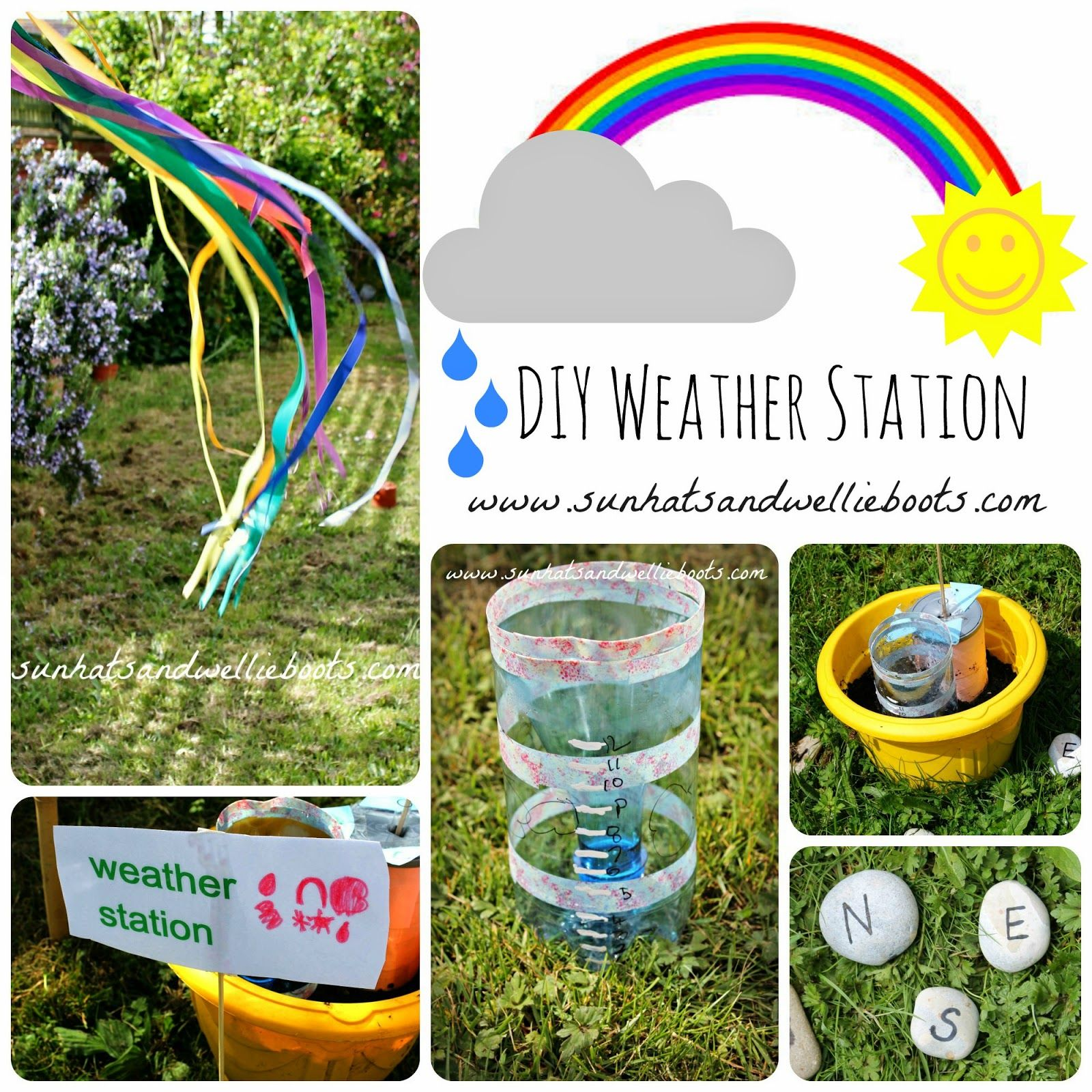 Diy Weather Station For Kids To Make From Sun Hats