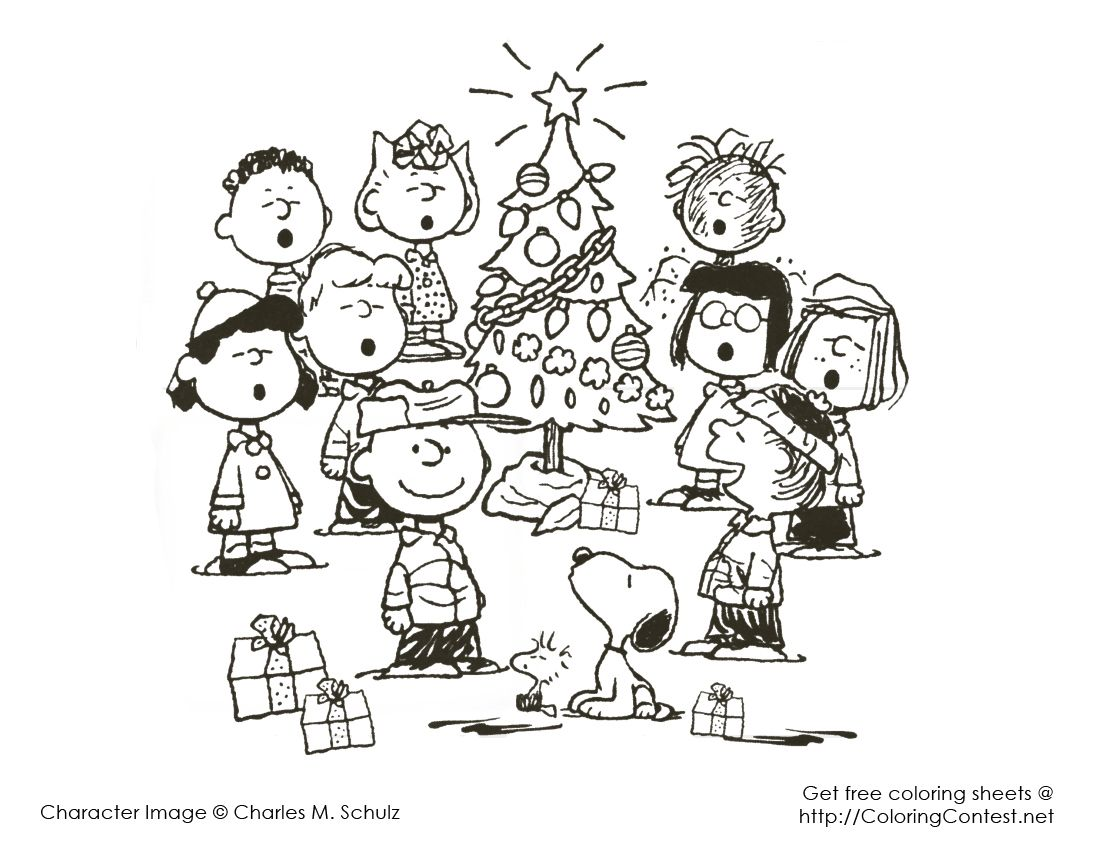 Snoopy Christmas Coloring Pages 3 Charlie Brown Charlie Brown