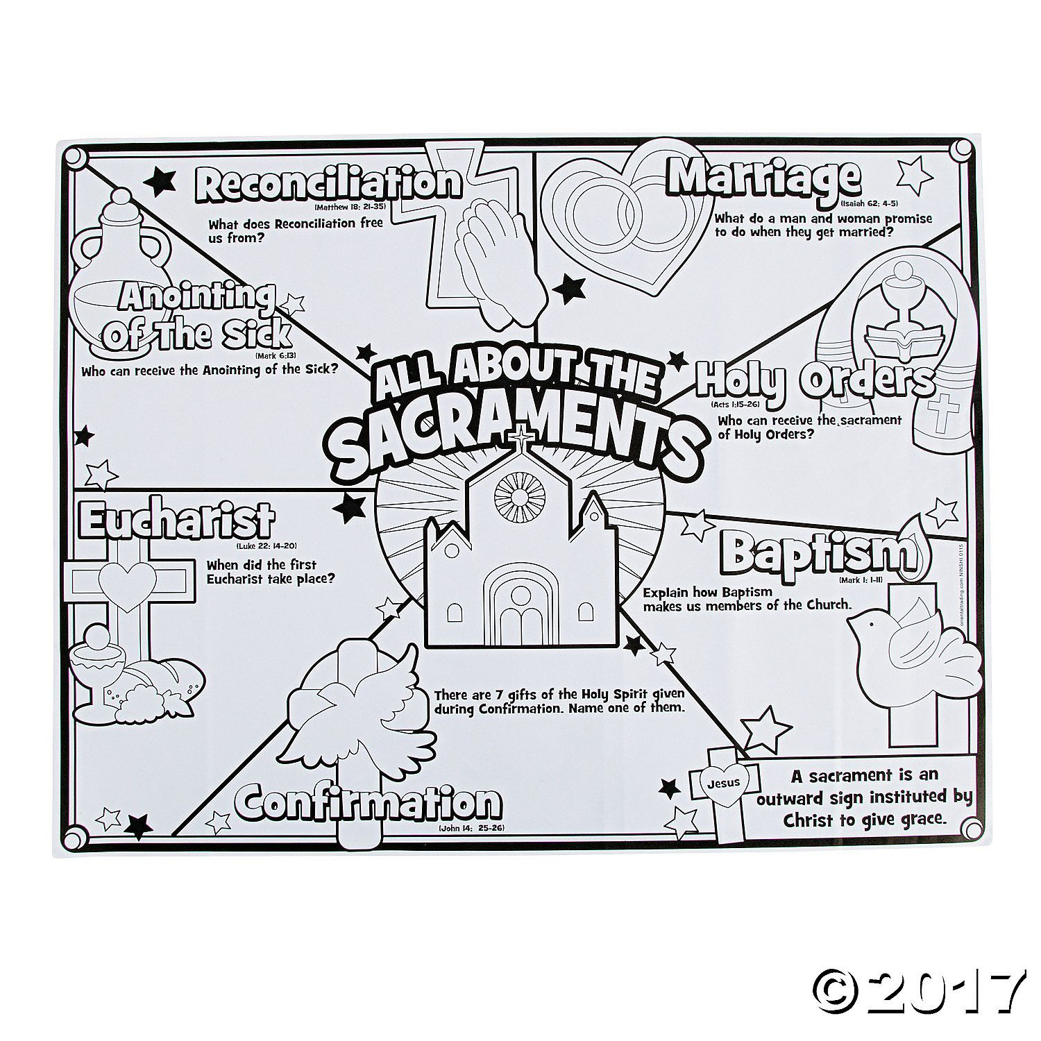 Color Your Own All About The Sacraments Posters Orientaltrading