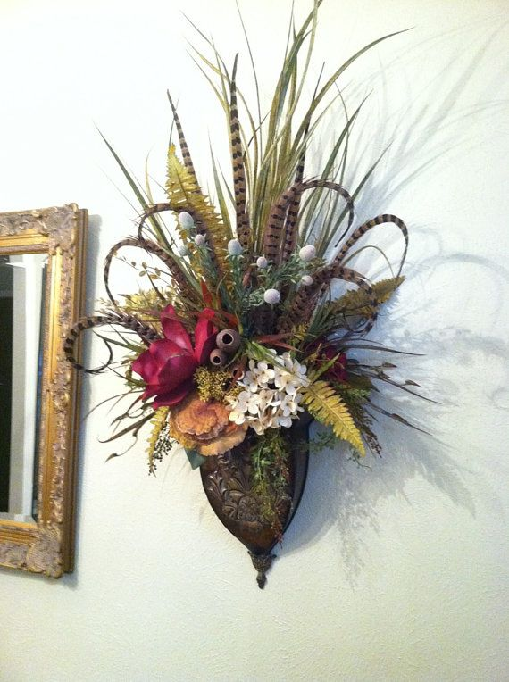 Gorgeous, extra-large wall sconces. By Greatwood Floral ... on Decorative Wall Sconces For Flowers Arrangements id=70008