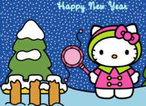 hello kitty happy new year