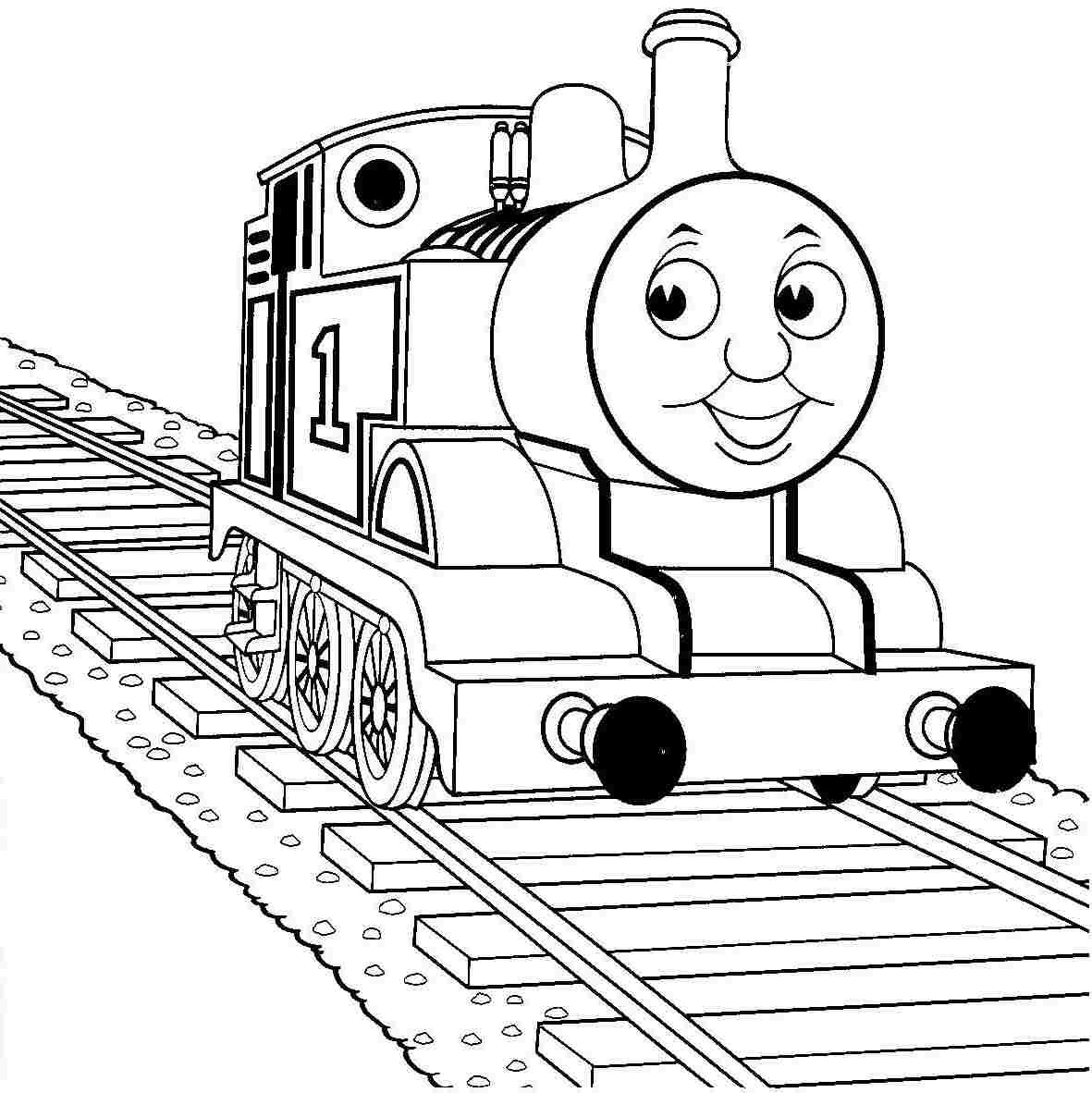 Thomas The Train Coloring Page