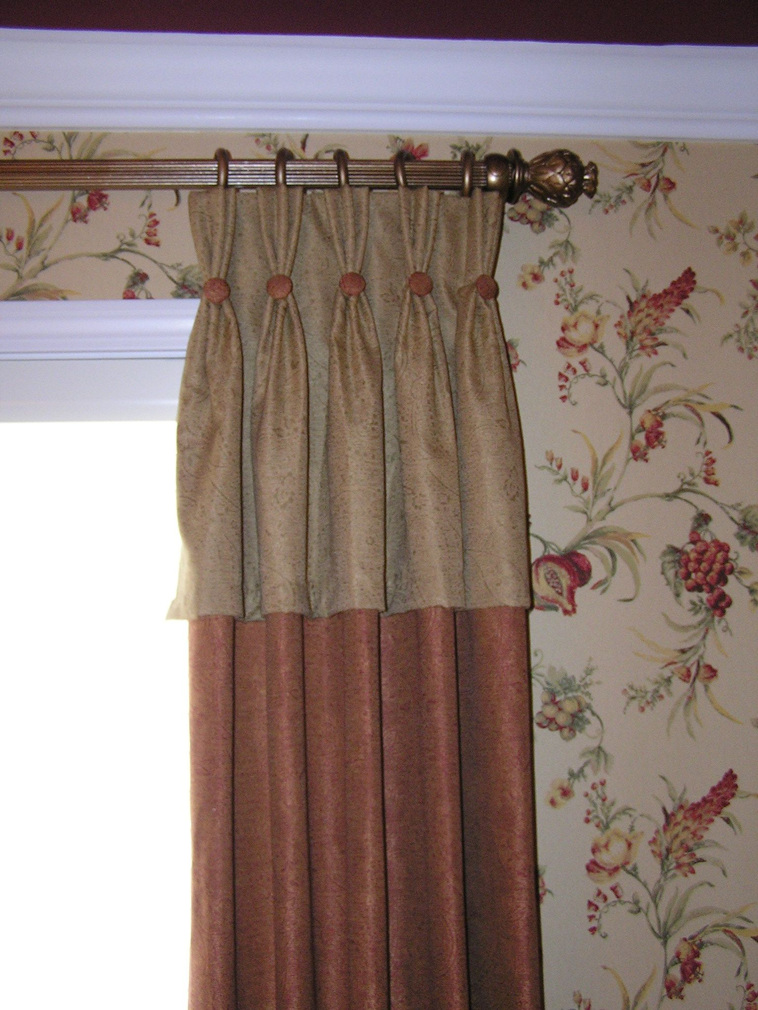 Custom D Ry Panel With Attached Valance And Button