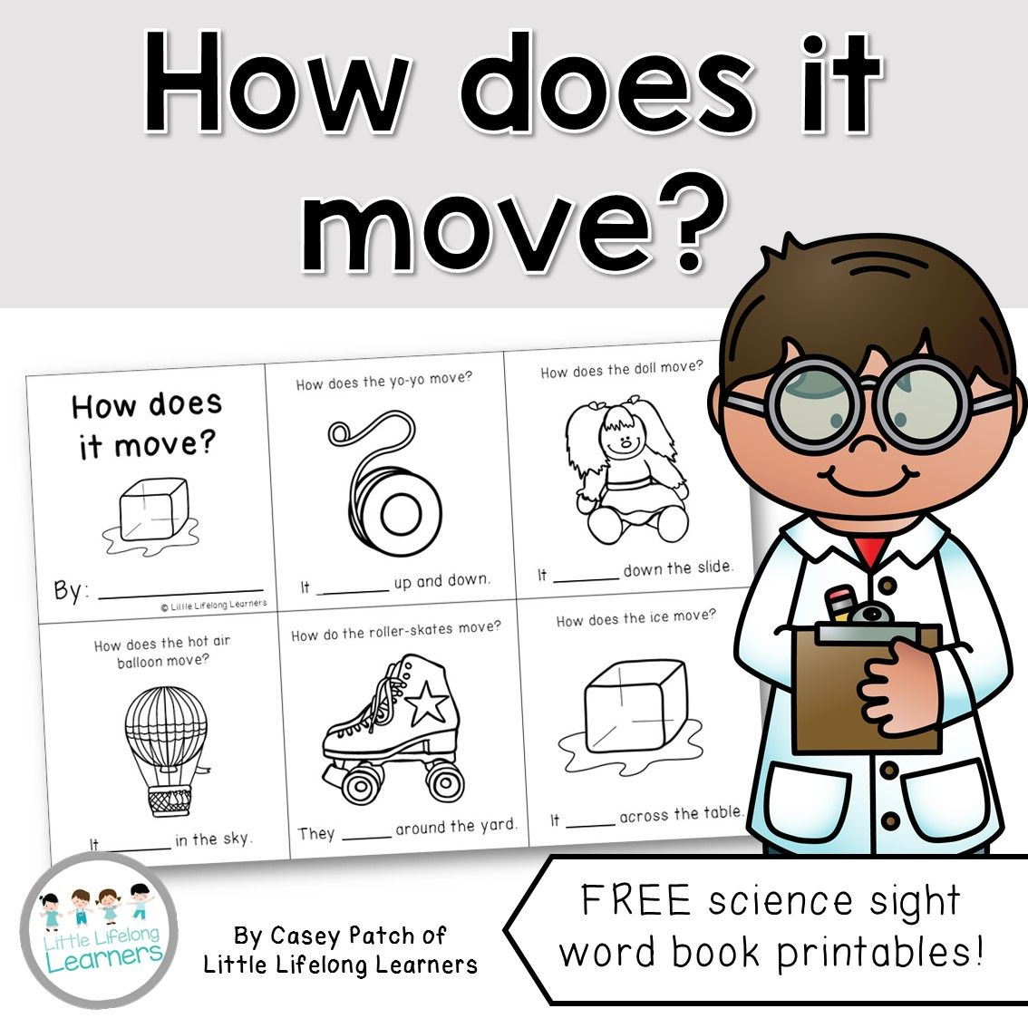 Free How Does It Move A Science Sight Word Mini Book