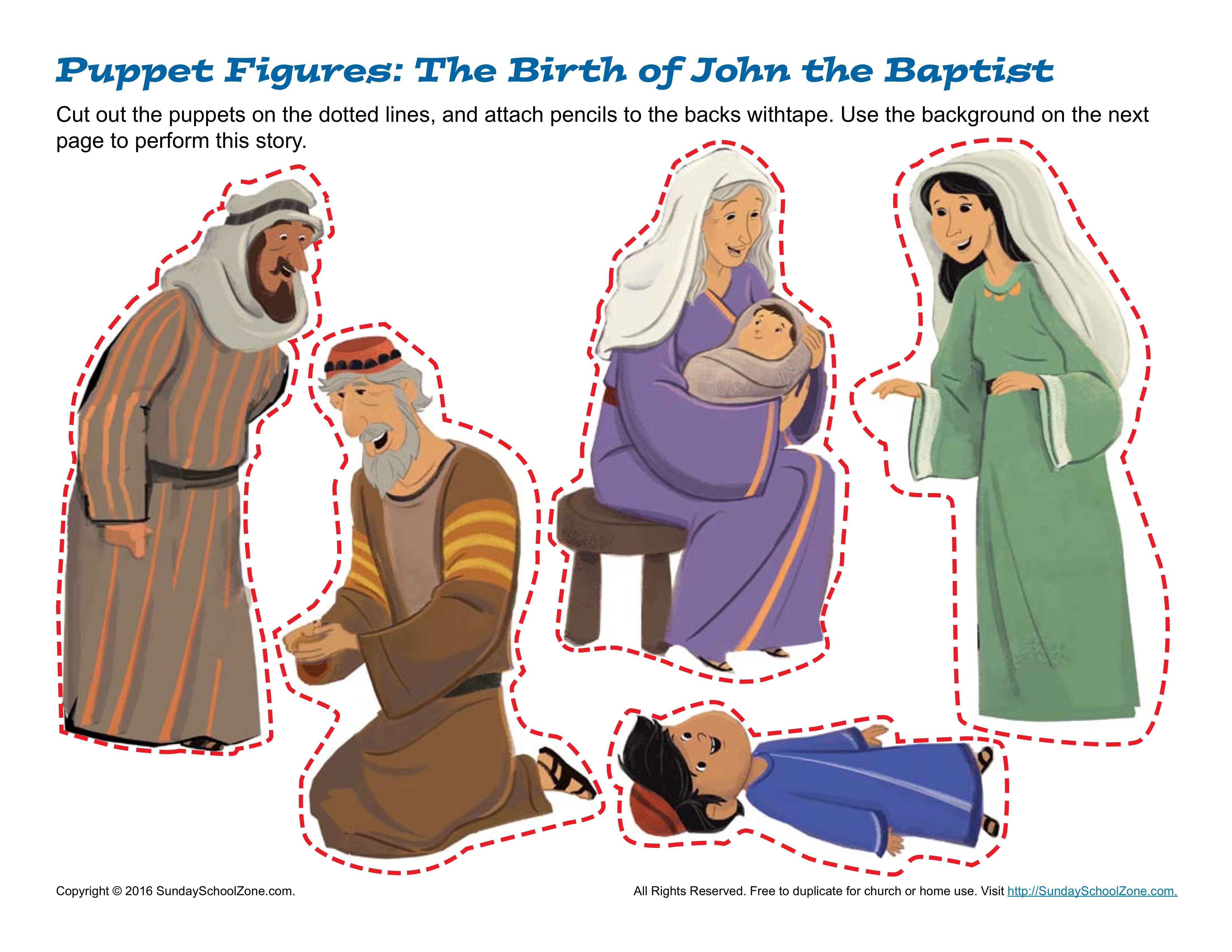 The Birth Of John The Baptist Puppets