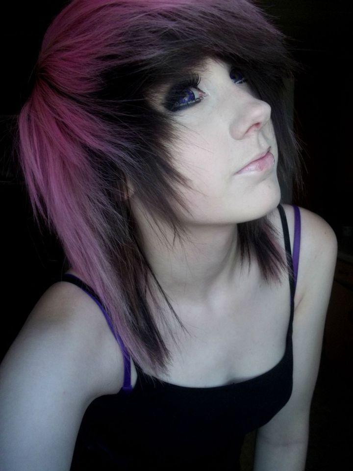 pink and black scene hair Scene Fashion Hair Pinterest