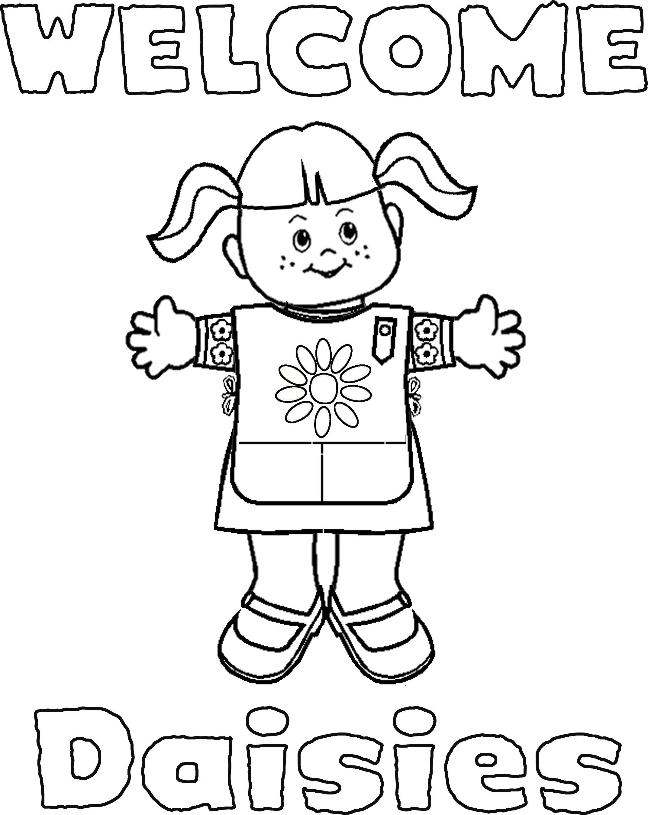 Daisy Girl Scout Coloring Pages
