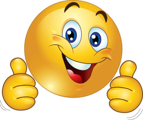 Smiley Face Clip Art Thumbs Up Clipart Two Thumbs Up Happy