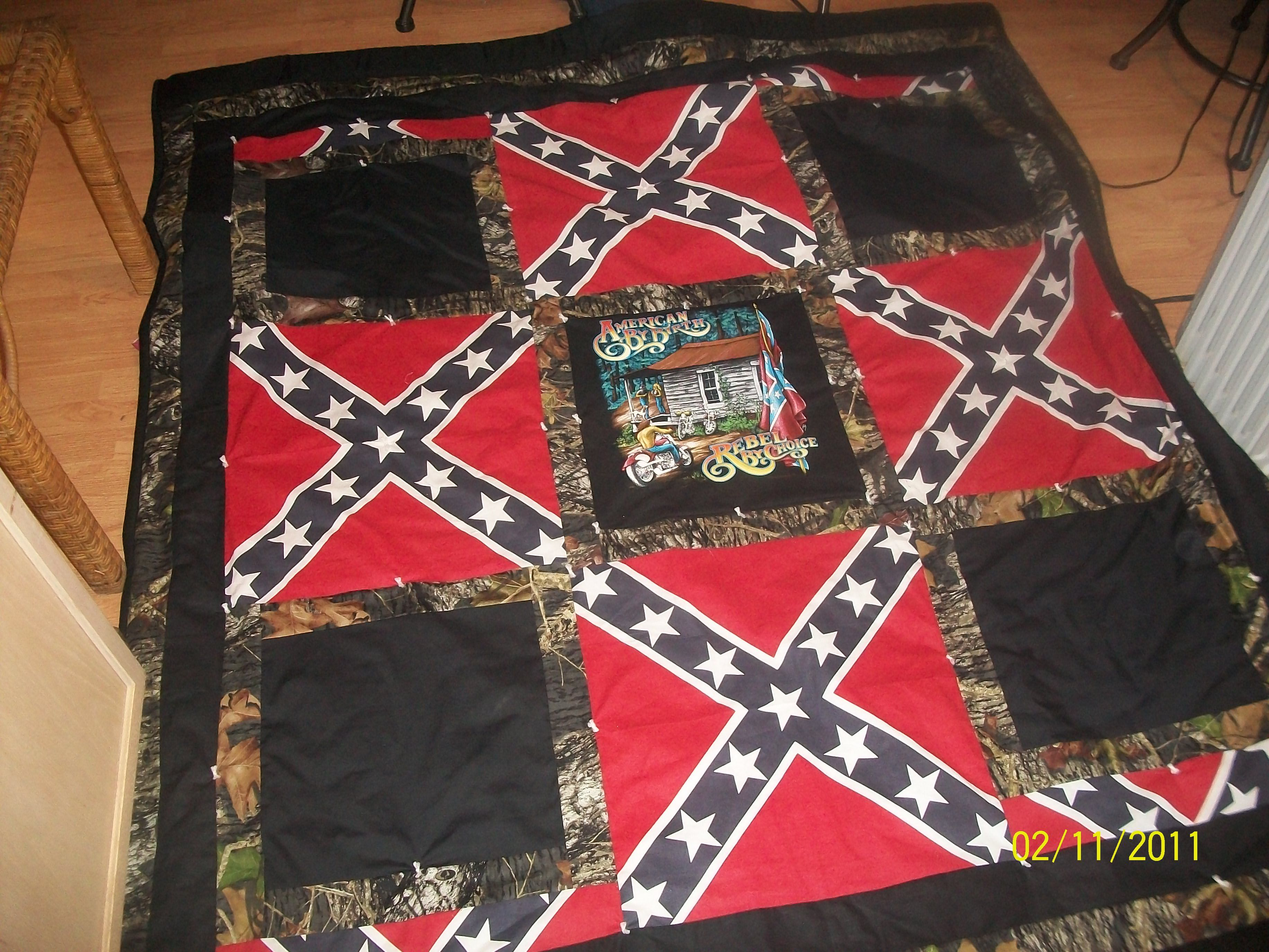 Confederate Flag And Country Biker Quilt