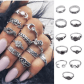 Pcs vintage midi finger rings boho moon women friend jewelry