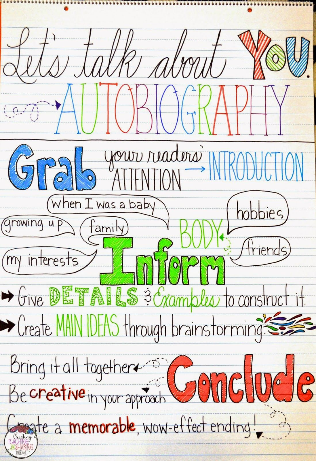 Awesome Autobiographies In The Upper Grades