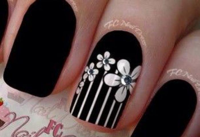 Uñas Decoradas Con Flores Nails With Flowers Uñas Pinterest