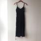 New look black midi dress with ruffle black midi dress summer